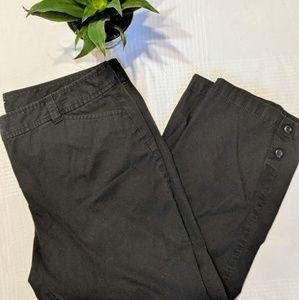 Ann Taylor Loft Original Crop Pant in Black